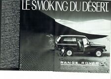 Publicité Advertising 079  1985 Land Rover  Range Rover (2p ) smoking du desert