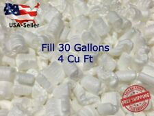4 Cubic Feet Fill 30 Gallons Packing Peanuts Shipping Anti Static Loose White