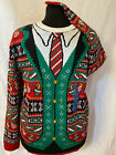 New Ugly Christmas Sweater Dress up with Tie Mens size XXLarge (Christmas Party)