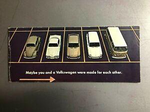 1968 VW Full Line Showroom Advertising Sales Brochure RARE Awesome L@@K