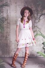 JAK AND PEPPAR TWEEN GIRLS VANILLA MOTIF ENDLESS LOVE PEASANT DRESS Size 12