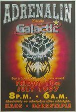 Adrenalin & Galactic @ Kaos, Barnstaple, 18/7/97 Rave Flyers