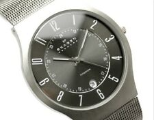 Skagen Watch * 233XLTTM Grey Date Dial Titanium Case Mesh Steel Men COD PayPal