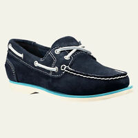 TIMBERLAND 8223A EK.CLASSIC Women's Navy Suede Boat Shoes Size 7.