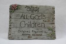 Miss Martha Holcombe Root All God's Children Collector Display Sign Plaque Sm