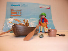 Playmobil--Loose--Pirate Set 3937 Boat with figure fishing
