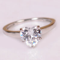 3.10 Carat Amazing Heart Shape 14KT Solid White Gold Solitaire Engagement Ring