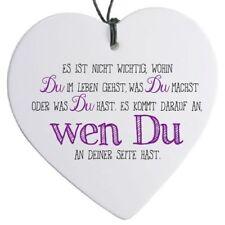 """Herz mit Spruch """"Es ist nicht wichtig ..."""" - H 14 cm"""