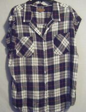 JACHS Girlfriend Blouse Short Sleeve Button Front Sizes Xl-2x With Tags 2x Solid White