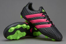 adidas Ace 16.4 FXG Adult  Soccer Cleats Shoes Black Green Pink Men's Sz 9.5 NEW