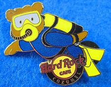 COZUMEL MEXICO BEAR SERIES HRC SCUBA DIVING DIVER WET SUIT Hard Rock Cafe PIN LE