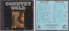 COUNTRY GOLD Various Artists HEARTLAND MUSIC 2 CD Set 40 Classic Hits 80s & 90s