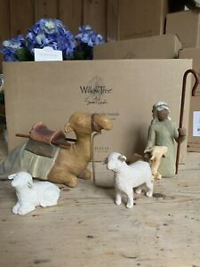 Willow Tree Nativity By Damdaco shepherd & Stable Animals Camel Sheep & Boy