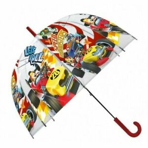 "Mickey Racer Bubble Umbrella Dome 19"" Sunshade Wipeable Fabric Unisex Kids Gift"