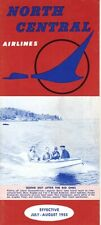 North Central Airlines timetable 1955/JUL