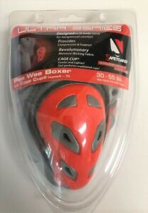 SafeTGuard Ultra Series Pee Wee Boxer w Cage Cup 30-55# Ages 4-7 NEW Red