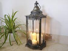 Francese antico vintage Garden CANDELA Uragano Lanterna Lampada titolare Large 70cm