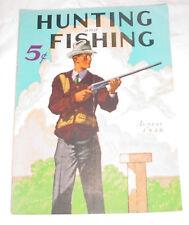 8/1936 Hunting & Fishing Magazine