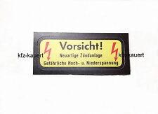 """Blot HKZ Aufkleber """"Vorsicht Neuartige Zündanlage"""" passend für Porsche 911"""