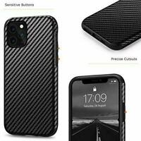 Carbon Fiber Leather Design Shockproof Case Cover for Apple iPhone 11 Pro Max