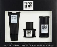 VINTAGE BLACK KENNETH COLE 3pc Set 1.7 oz EDT + 3.4 After Shave Balm + Deo Stick