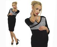 Top Women Maternity Pencil Dress V-Neck Pregnancy Clothes Dress Size 8 10 12 14