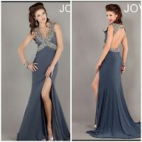 jovani Beaded Mermaid Empire Open Back Full Length Evening/celebrity/formal $698