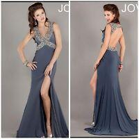 jovani Beaded Mermaid Empire Open Back Full Length Evening/celebrity/formal $698