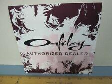 OAKLEY 2006 Womens Authorized Dealer 2 sided Window Vinyl sticker New Old Stock