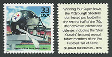 PITTSBURGH STEELERS Steel Curtain 1970s Super Bowl Champions Football Stamp MINT