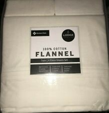 Member's Mark 100% Cotton Flannel Sheet Set Twin Size Ivory Color