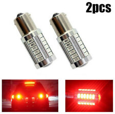 2X Red P21W 1157 BA15S 33 LED Bulb 5730 SMD Super Bright Car Light Auto