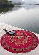 Round Mandala Indian Bohemian Hippie Elephant Tapestry Beach Picnic Throw Rug