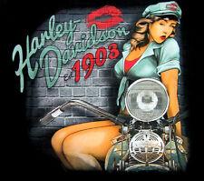 Pin Up Girl 1903 Harley Davidson Dealer Back T-Shirt 3029407605