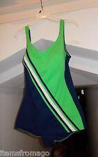 ROBBY LEN Vintage 1960s 1 Piece Bathing Suit - Built In Bra - Size 38 Swimsuit
