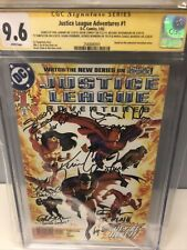 Justice League Adventures #1 (DC) CGC Signed X7 Conroy/Newburn/Rosenbaum/LaMarr+