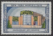 Usa Poster stamp:1939 New York World's Fair: Contemporary Arts Bldg -dw433/22