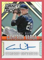 2014 Cameron Varga Panini Prizm Draft Picks Rookie Auto - Tampa Bay Rays