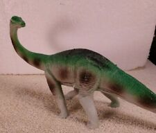 "GREENBRIER INTL. Brontosaurus Dinosaur Plastic Toy Figure 5"" Tall X 11"" Long"