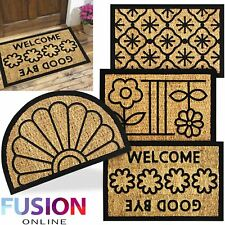 Door Mat Outdoor Doormat Natural Coir Rubber Back Non Slip Matting Front Floor