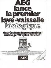 PUBLICITE  1972   AEG  lave  vaisselle