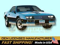 88-90 Camaro IROC-Z Pre-Molded Decal /& Stripe Kit Silver//Black