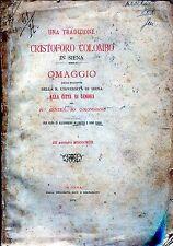 Alessandro Allmayer e Gino Ciani UNA TRADIZIONE SU CRISTOFORO COLOMBO IN SIENA
