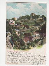 Germany, Weisser Hirsch, Drahtseilbahn mit Luisenhof Postcard, A572
