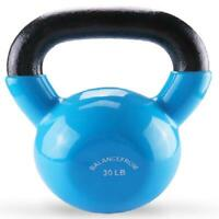 BalanceFrom All-Purpose Color Vinyl Coated Kettlebells 30lbs(Single)