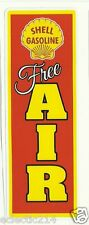 "SHELL ""FREE AIR"" Gas VINYL Sticker Decal Garage Service Station Vintage Style"