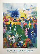 "LeRoy Neiman ""DERBY DAY PADDOCK"" Hand signed Equestrian - 123rd Kentucky Durby"