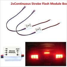 2xContinuous Strobe Flash Module Box For Car 3rd Brake Light Rear Fog Taill Lamp