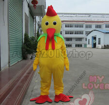 2017 Hallooween yellow cock adult  Mascot Costume cartoon fancy dress  X'mas new