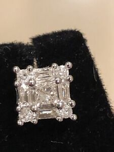 Diamond Earring & Necklace Set 9Ct & 10Ct White Gold FABULOUS CONDITION